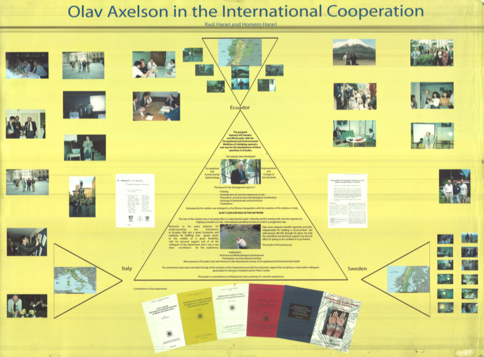 Olav Axelson in the international cooperation